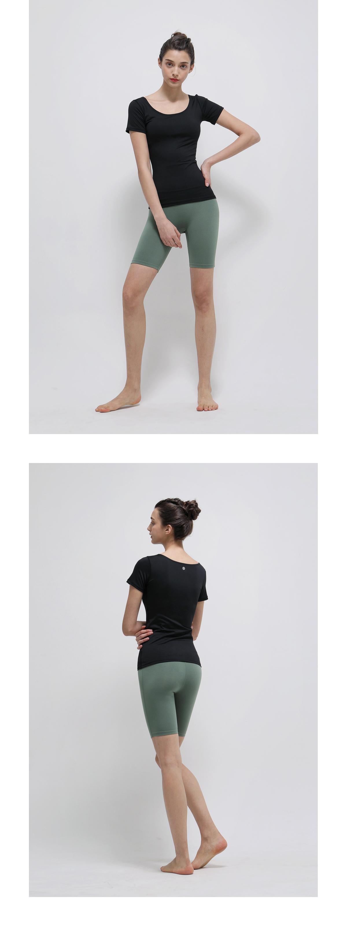 데비웨어(DEVIWEAR) 여성 요가복 DEVI-B0013-블랙 필라테스 레깅스 5부팬츠