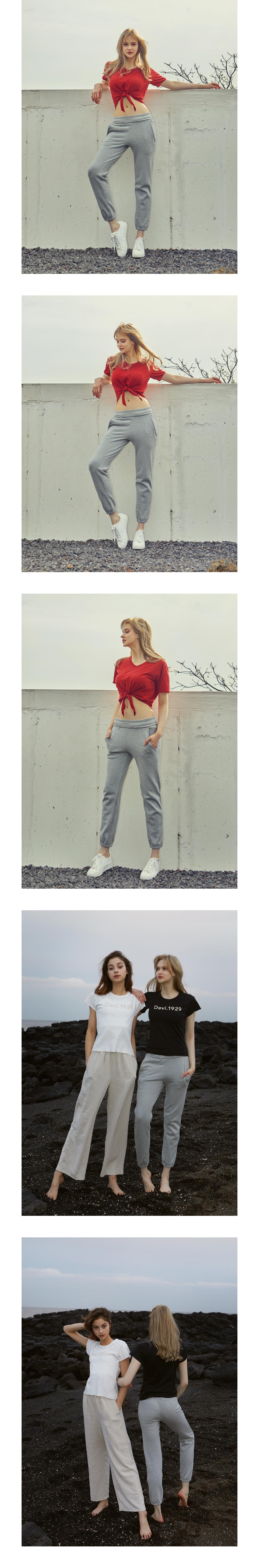 여성 요가복 DEVI-B0033-그레이 스웨트 팬츠 - 데비웨어, 22,500원, 하의, 레깅스