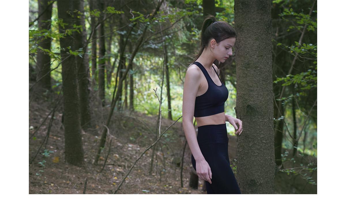 데비웨어(DEVIWEAR) 여성 요가복 DEVI-TS0013-블랙 필라테스 베이직 브라탑